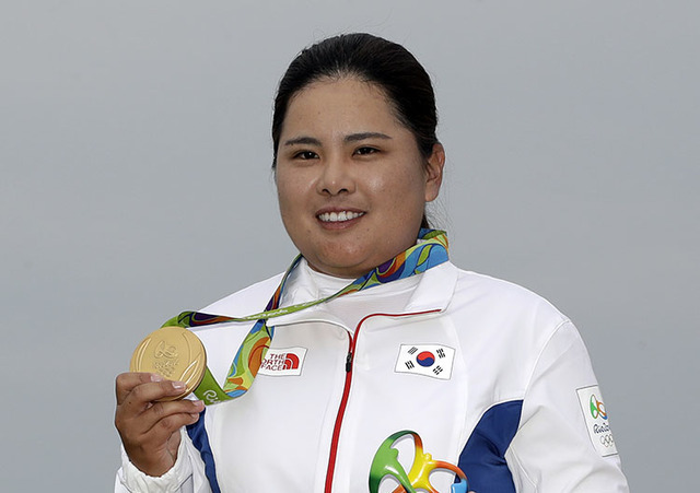 Image result for Inbee park wins olympic gold