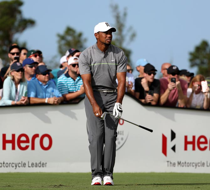 Tiger Woods Arrives Late To The