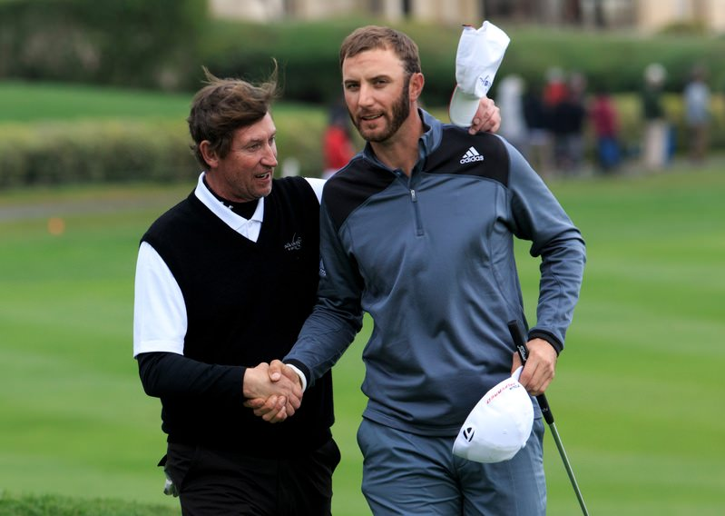 Dustin Johnson Let's 'Em Know He's Lurking At Pebble Beach