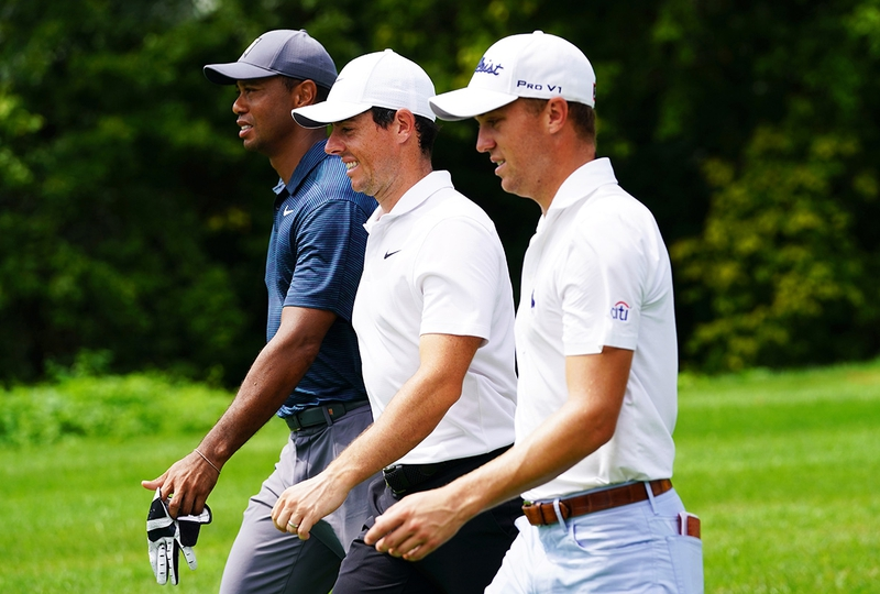 Tiger Woods Grinds, Holds His Own With J.T. And Rory