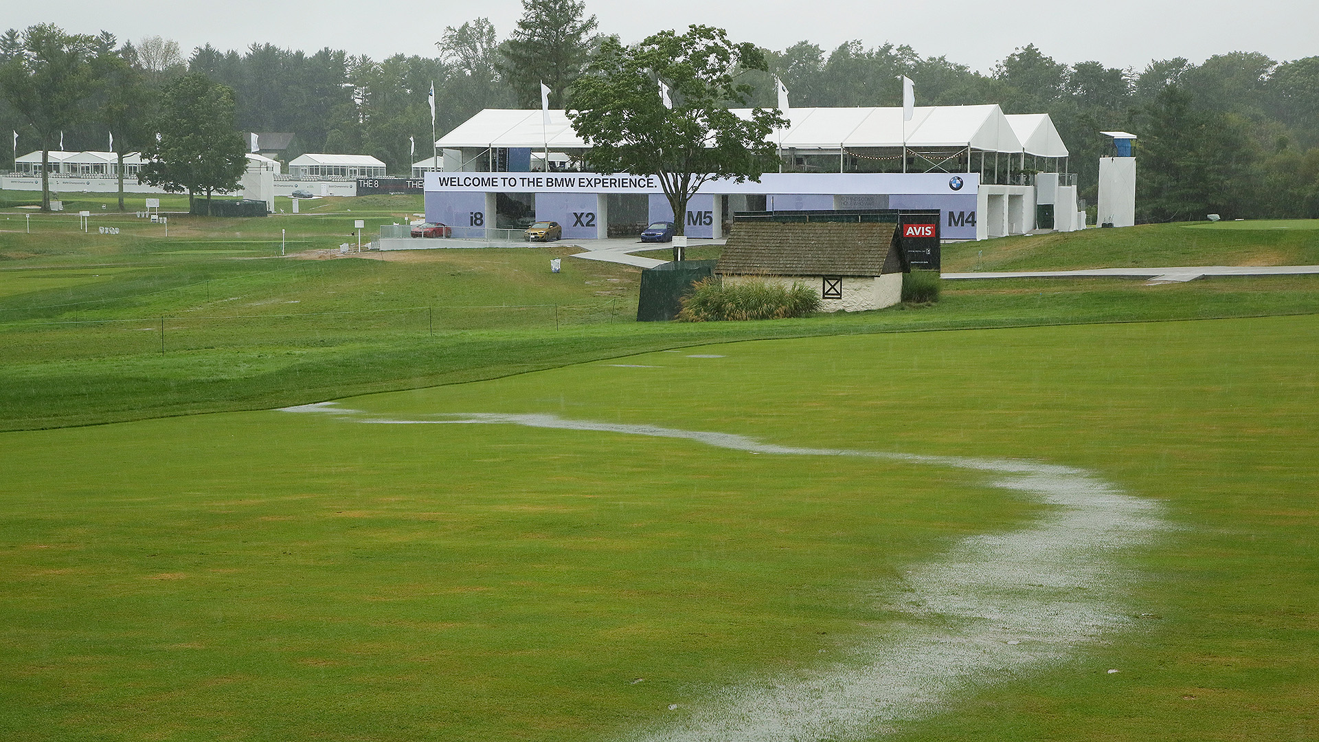 BMW Rainfest:  Mother Nature Takes Down The Playoffs