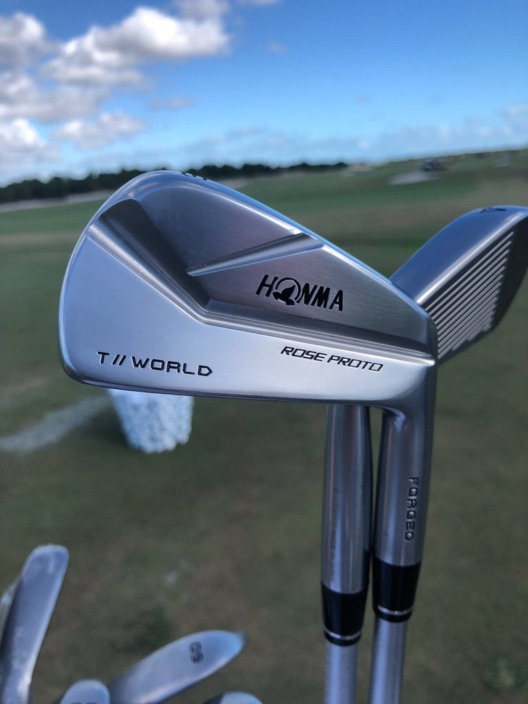 Justin Rose Shows Off His New Honma Irons