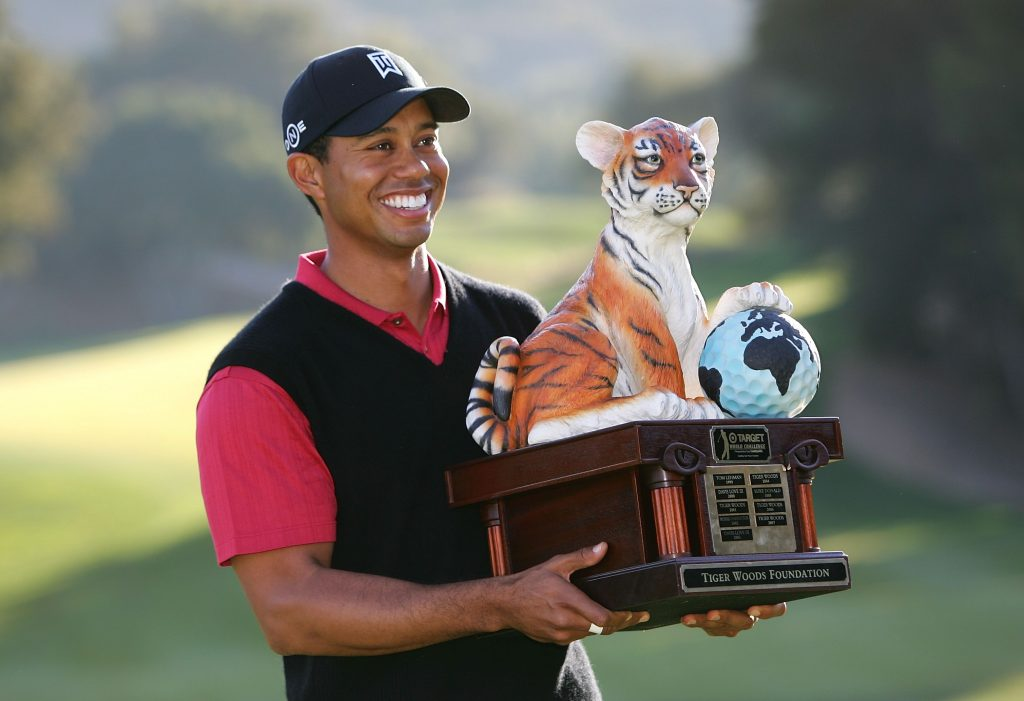 tiger woods has fun and games before hero challenge