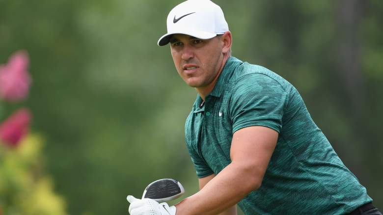 Brooks Koepka Grimacing During Rehab Workouts