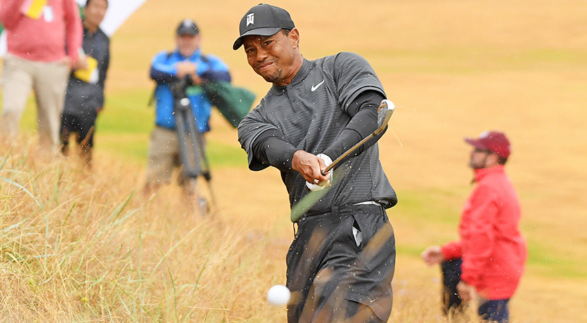 Younger Tiger Woods Leads At Halfway Of Open For The Ages