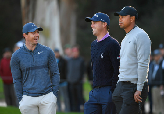 Tiger Woods (68) Schools Rory And J.T. At PGA Championship