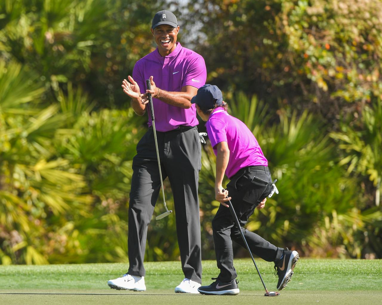 Charlie Woods Outplays Tiger As Team Woods Shoots 10-Under