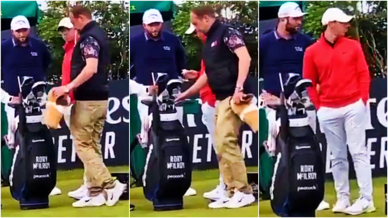 Harry Diamond Lets Intruder Swipe One Of Rory McIlroy's Clubs