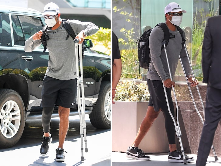 Tiger Woods Can Put Weight On His Right Leg Again