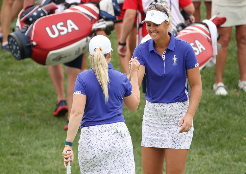 Solheim Struggle:  Europe Holds 9-7 Lead Heading Into Singles Finale